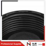 액세스 캡 검정 HDPE 하수 플라스틱 밸브 6 인치 확인