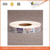 La stampante su ordinazione ha stampato il contrassegno tessuto panno del prodotto dell'indumento di stampa dell'autoadesivo