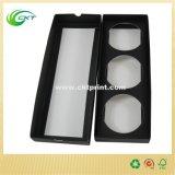 リップ・クリームの錫(CKT-CB-129)のための円が付いている黒いペーパー包装ボックス