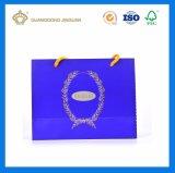 Fördernder kundenspezifischer kaufender Papierbeutel mit farbenreichem Drucken (Firmenzeichen-Punkt UV)