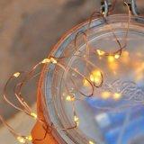 Van het koper van de Fee de Lichte 100 Warme Witte Sterrige LEDs Bendable Stop van Koord in het OpenluchtGebruik van de Tijdopnemer van de Draad