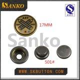 Zink-Legierungs-Verschluss-Taste in der 21mm und 17mm Metallverschluss-Taste