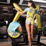 女性の汗ヨガの適性の連続した体操の不足分の袖のスポーツ・ウェア
