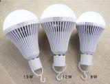 Luz recargable inteligente en el bulbo Emergency de Alibaba China 9W LED