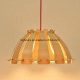 Di lampada in attesa di montaggio facile del pannello esterno decorativo di legno alla moda
