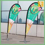 2015 bandiere di vendita calde di volo, bandierine della piuma con la base trasversale