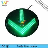 sinal de tráfego verde do diodo emissor de luz da recolocação do sinal da seta de 400mm