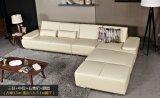 Cuoio poco costoso L sofà di figura con il bracciolo e la parte posteriore registrabili (GLS-031)
