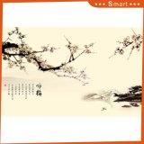 Der Pflaume-Blüten-Tintenstrahl gedruckte chinesische Farbanstrich für Hauptdekoration