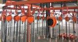 Élévateur à chaînes électrique utilisé par étape avec le crochet