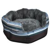 Grünes/blaues Streifen-Haustier-Sofa-Hundekatze-Bett/Haus (KA0068)