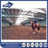 Arenas de interior de acero que construyen, edificios ecuestres/equinos del montar a caballo del bajo costo de los graneros de caballo, de la estructura