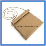 Bolso ocasional de papel modificado para requisitos particulares diseño del mensajero de Du Pont de los jóvenes, bolso de hombro de papel de las compras de Tyvek de la promoción caliente con la correa de oro del metal del color