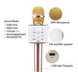 Microfone sem fio do jogador do karaoke do altofalante da música de Bluetooth da venda quente (SS-Q7)