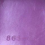 Couro sintético ligado do PVC do plutônio para o sofá (868#)