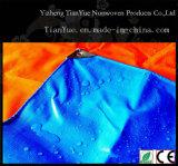 Encerado rayado impermeable del PVC para el toldo