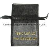Персонализированный оптовой продажей изготовленный на заказ мешок подарка ювелирных изделий Drawstring Organza серебряного серого цвета малый