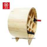 Barril de vino de madera del roble del extremo abierto del estante del diseño delicado