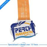 Médaillon de marathon d'émail avec la lanière