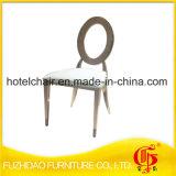 Forma redonda de aço inoxidável cadeiras com PU Leather