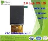 Modulo da 2.8 pollici 240 * 320 MCU TFT LCD, Ili9341V, 37pin con Touch Screen