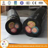 Hot Sale American Market 600V Soow 3*16AWG 90 Degree Rubber Power Cable
