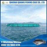 Gaiola de flutuação dos peixes da cultura aquática circular tubular do HDPE
