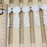 Merletto di nylon di immaginazione della guarnizione del ricamo del poliestere del merletto del commercio all'ingrosso 6cm della fabbrica del ricamo di riserva di larghezza per l'accessorio degli indumenti & tessile & tende domestiche