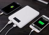 Côté portatif extérieur de pouvoir du chargeur 20000mAh de téléphone d'interpréteur de commandes interactif en cuir pour l'iPhone 7
