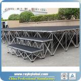 Alta Capacidad de Carga de Escenario portátiles Escaleras de la escuela para la tercera fase de la prolongación del andén de la etapa