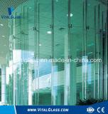 La glace teintée d'auvent de flotteur/repassent bas verre en verre/feuilleté d'isolation
