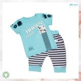 la ropa linda del bebé de la ropa del bebé 0-Neck fijó
