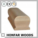 Recinzione europea del corrimano della quercia rossa di legno solido