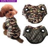 Vêtements à la mode de crabot de Polyfill de camouflage d'approvisionnement d'animal familier