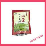 Les sachets à thé noirs personnalisés Pacgaging en plastique met en sac les sacs de empaquetage d'aliment pour animaux familiers