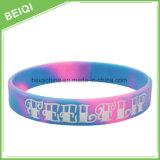 Wristband del silicone di festival poco costoso/braccialetto stampati variopinti promozionali del silicone