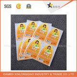 Collant de papier transparent imperméable à l'eau fait sur commande de promotion d'étiquette d'impression de vente de forme