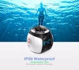 360 Vrのカメラを運転するカメラ4k WiFiの小型パノラマ式のカメラの防水スポーツ