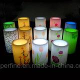 Produtos Flameless plásticos por atacado decorativos da vela do diodo emissor de luz da coluna do Tulip do Natal