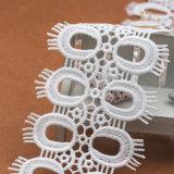 Merletto bianco di nylon del ciglio del nuovo tessuto di disegno