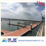 Fait dans le dock flottant de chapeau de pile de marina de la Chine