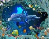 azulejo Polished de la porcelana del mundo del mar 3D para el material de construcción (VPA6A108)