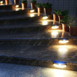 Lumière imperméable à l'eau d'escalier d'opération de garantie de lumière de mur de détecteur de mouvement de l'énergie solaire 8 DEL PIR de lampe de jardin d'éclairage extérieur