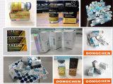 Escritura de la etiqueta farmacéutica de empaquetado impermeable del frasco de la Anti-Falsificación de encargo del holograma del OEM