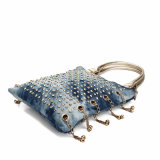 Sacchetto di spalla di lusso con i Rhinestones ed i particolari del metallo (MBNO040033)