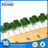 Condensador del poliester del verde del componente electrónico