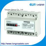Mini type mètre électronique triphasé de watt-heure d'installation de longeron DIN (DTS256 (ii))