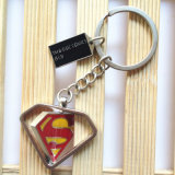 Sleutelringen van de Superman van de Vorm van de Driehoek van Keychain van het Metaal van het Wonder van de Gift van de Reclame van de handel de Roterende