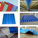 Prix ondulé enduit de feuille de toiture de polycarbonate de matière première de couleur en plastique d'espace libre
