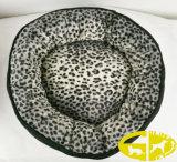 Baccello ovale piano di lusso della base del cane di animale domestico con pelliccia Inner e parte esterna di tela